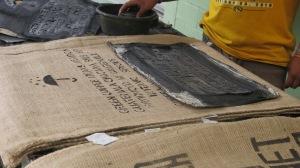 Marcando sacos #guatemalancoffee #servexcoffee